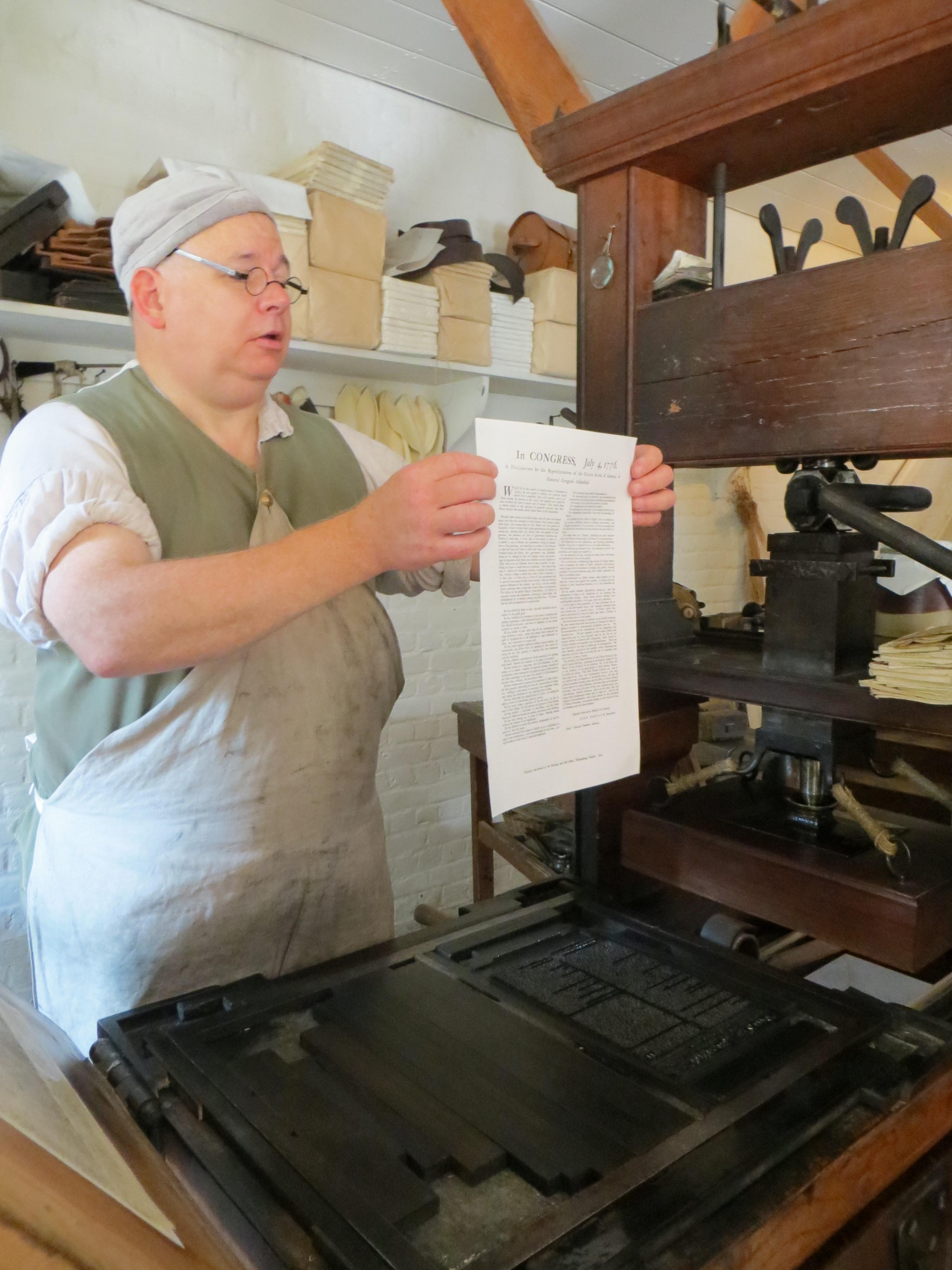 18th-century printing press